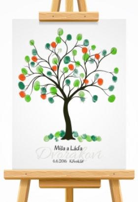 svatební strom 2 hnědý