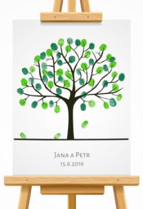 svatební strom 3 hnědý
