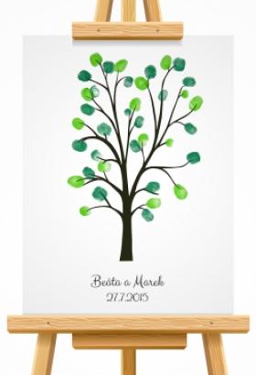 svatební strom 6 hnědý