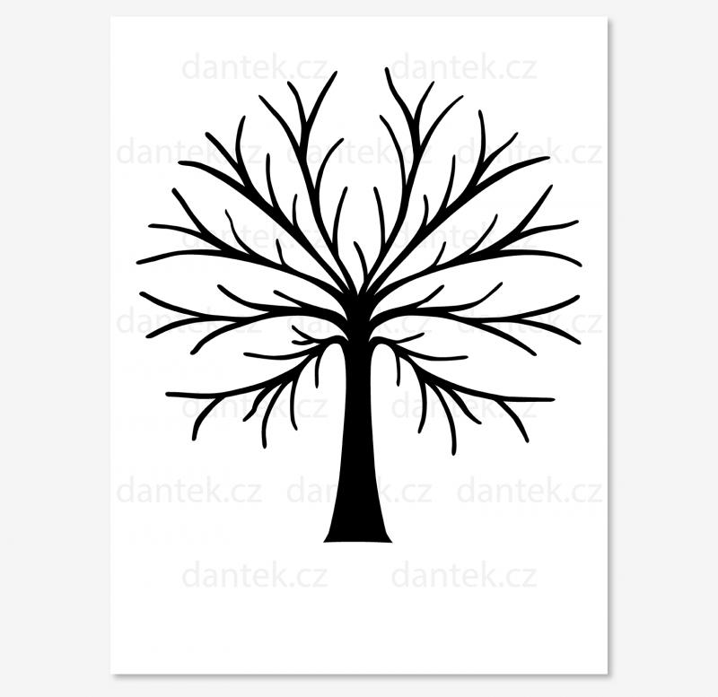 11 černý svatební strom pro náhled