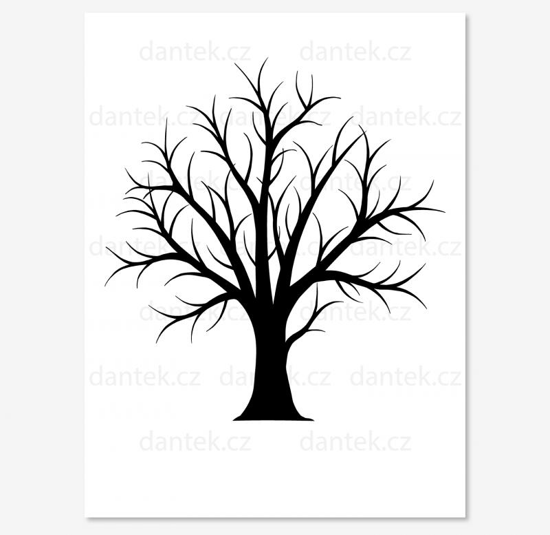 12 černý svatební strom foto pro náhled