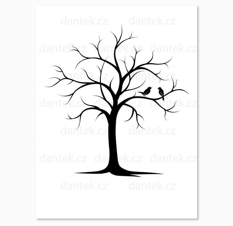 1 černý svatební strom pro náhled