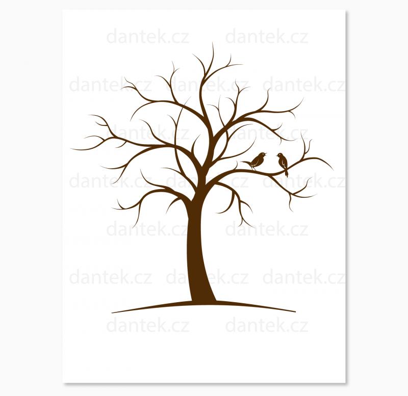 1 hnědý svatební strom pro náhled