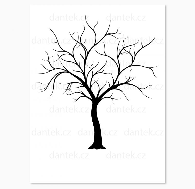 2 černý svatební strom pro náhled