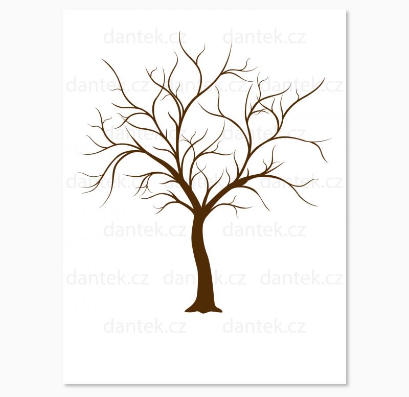 2 hnědý svatební strom pro náhled