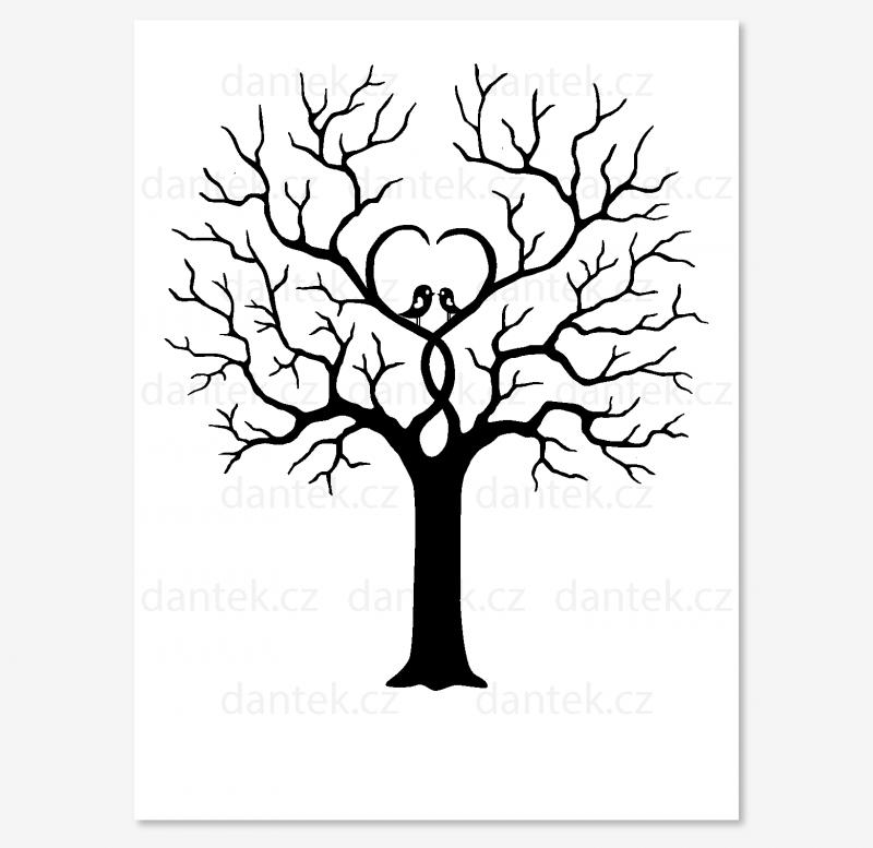 4 černý svatební strom pro náhled