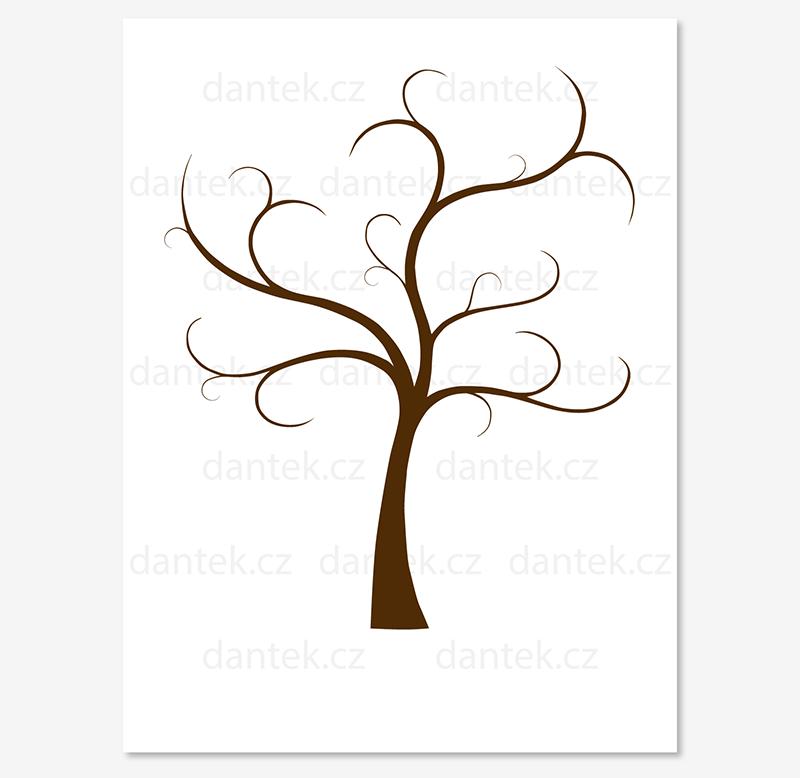 5 hnědý svatební strom pro náhled