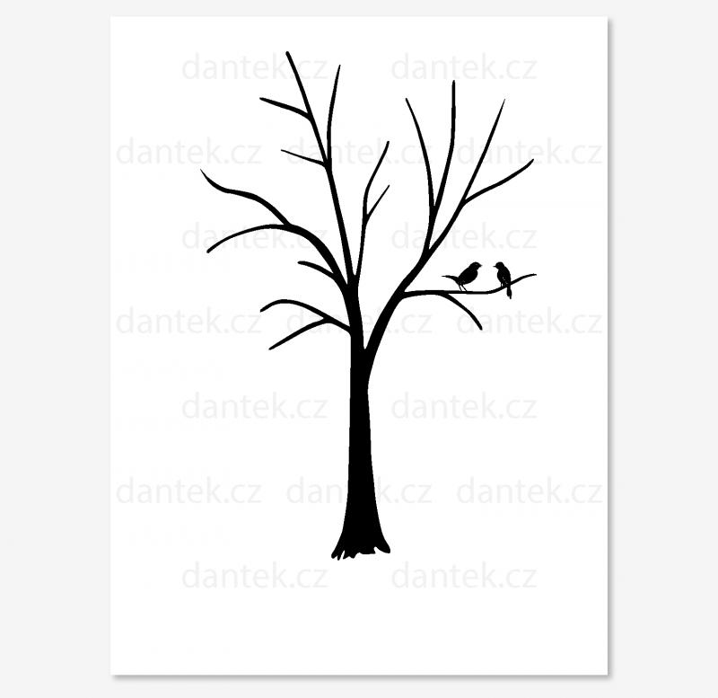 7 černý svatební strom pro náhled